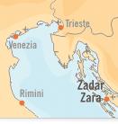 Mappa Zadar | Dentisti Croazia